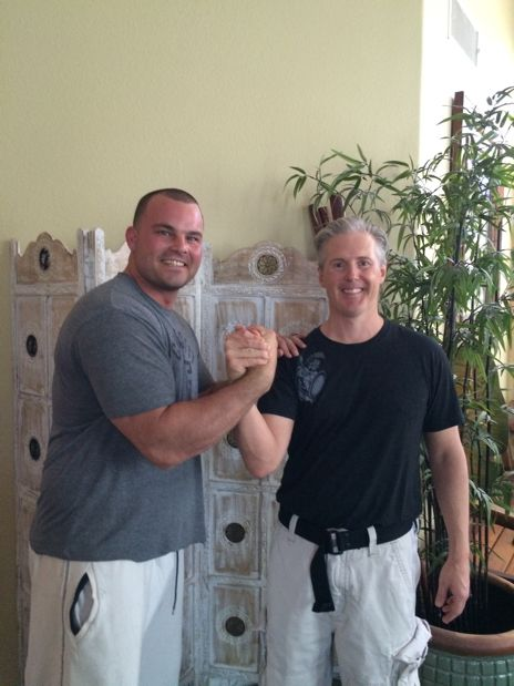 Travis Bagent and Dr. John Fitzgerald